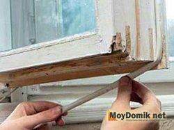 Резиновый уплотнитель для деревянных окон