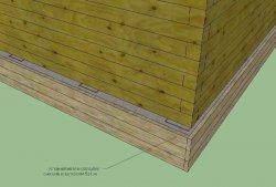 Устройство наружной опалубки и заливка бетона