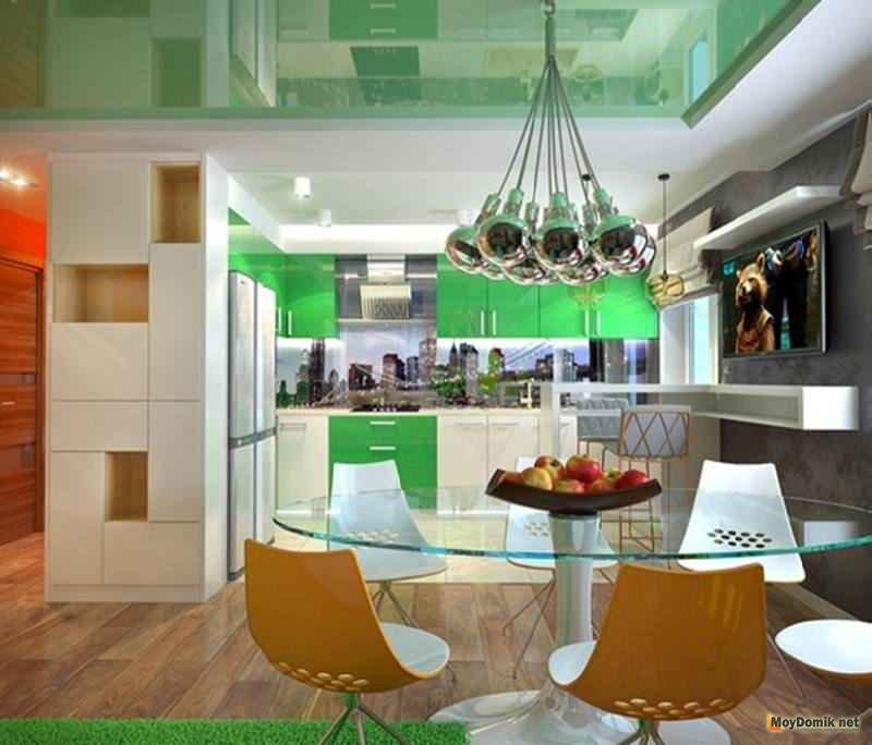 Дизайн современной кухни маленькой площади 5
