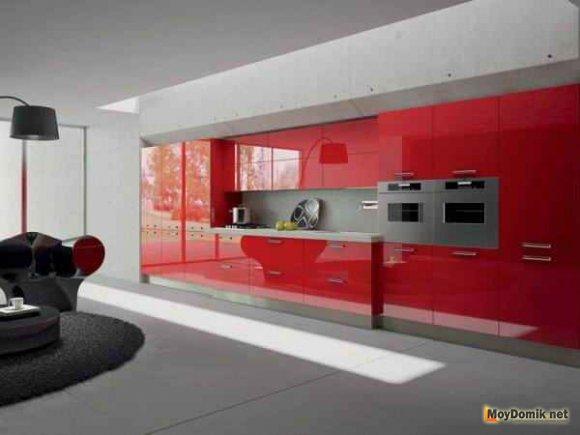 Акрил в интерьере современной кухни