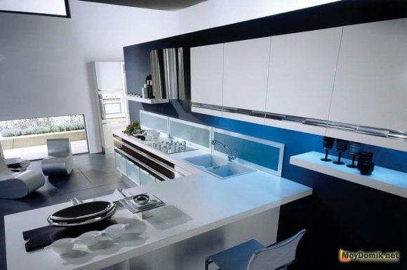 Рабочая зона современный кухни