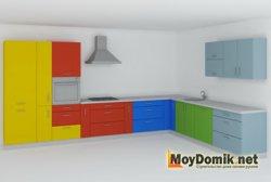 Г-образная (угловая) кухонная планировка