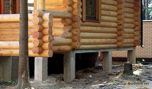 Устройство фундамента под деревянный дом – пошаговое руководство