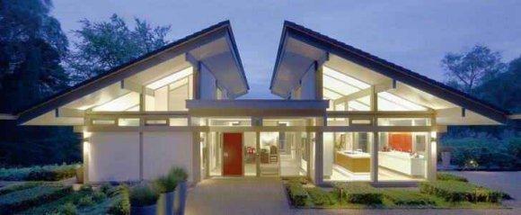 Оригинальная конструкция односкатной крыши