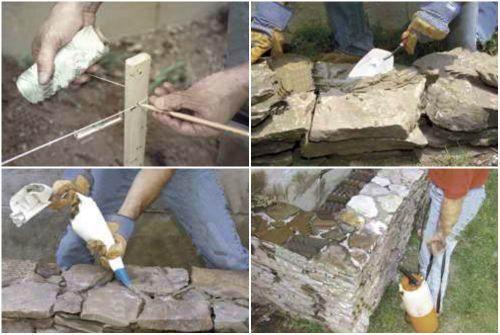 Технология устройства приподнятой клумбы из камня