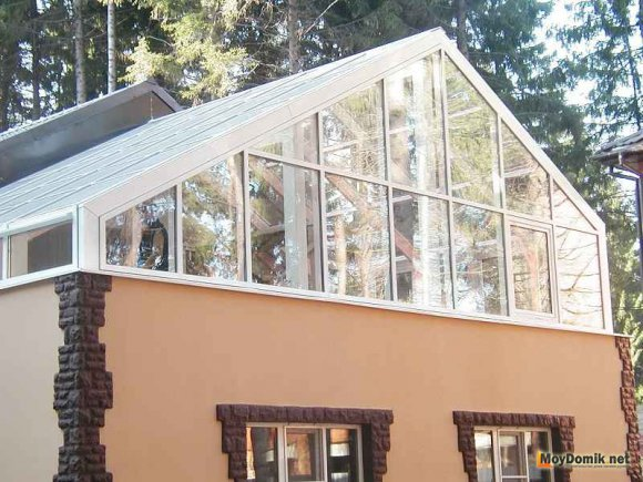Зимний сад на крыше дома