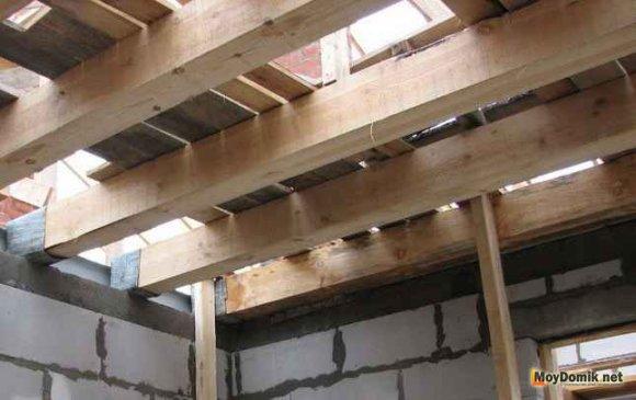 Междуэтажное перекрытие по деревянным балкам