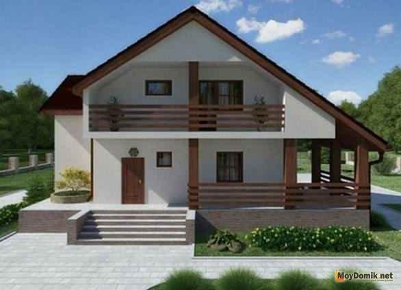 Дом мансардная крыша