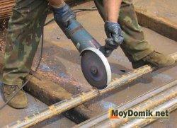 Нарезка металлического профиля или трубы