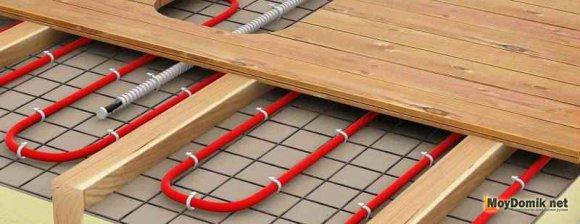 Система теплый пол под доски для обогрева зимнего сада