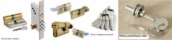 Цилиндровые замки для металлической двери
