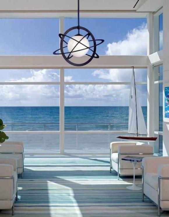 Интерьер в морском стиле - коттедж на побережье