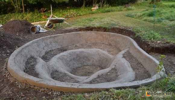 Декоративный пруд своими руками из подручных материалов