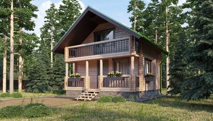 Проект KR-53 - загородный двухэтажный дом с бассейном