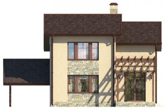 Проект дачного дома 90 кв.м. с мансардой - фасад 1