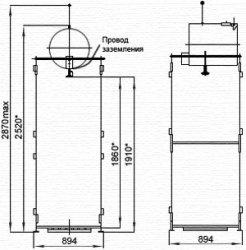 Схема деревянного душа - 1