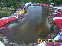 Рекламный баннер для пруда (водоема)
