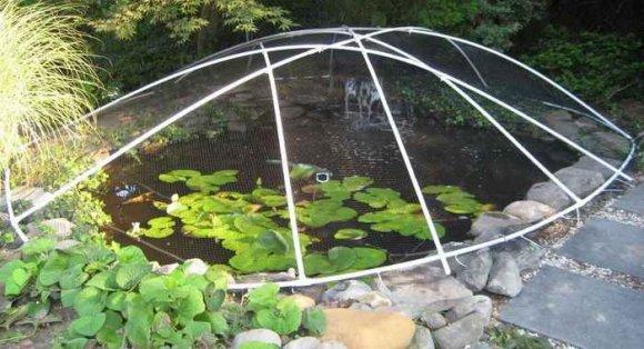 Защитная сетка для дачного пруда