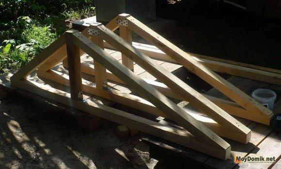 Заготовки для крыши - стропила