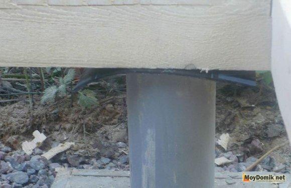 Гидроизоляция под деревянные балки каркаса