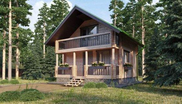 Проект небольшого деревянного дома с мансардой - 2