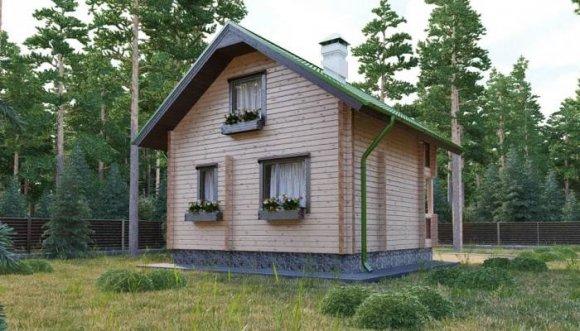 Проект небольшого деревянного дома с мансардой - 4