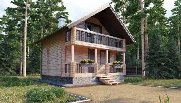 Проект небольшого деревянного дома с мансардой - 3