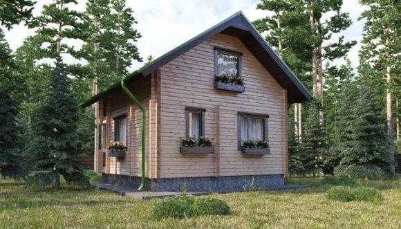 Проект небольшого деревянного дома с мансардой - 5