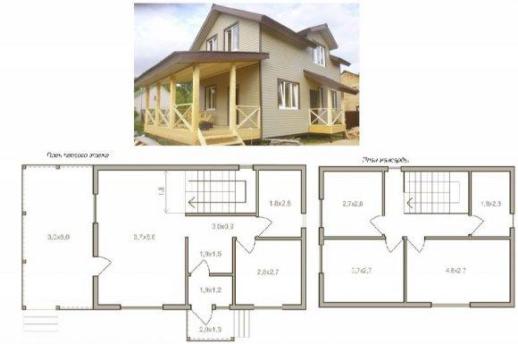 Проект деревянного дома с мансардой - 13