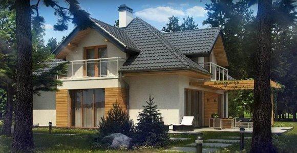 Проект дома с мансардой и гаражом на два автомобиля - 3