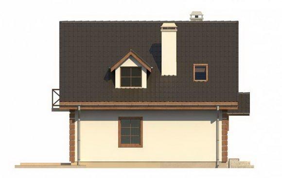 Проект дома с мансардой и гаражом - фасад 3