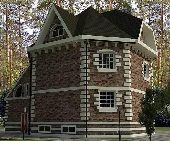 Проект 2-го дома с мансардой и гаражом