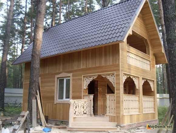 Как обшить дом деревянной вагонкой