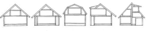 Формы мансардной крыши