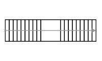 Схема двухмаршевой прямой лестницы с площадкой