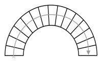 Схема круговой лестницы
