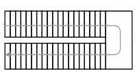 Схема двухмаршевой лестницы с площадкой