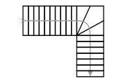 Схема Г-образной лестницы с поворотом на 90