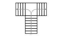 Схема Т-образной лестницы