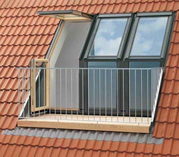 Балкон в мансарде
