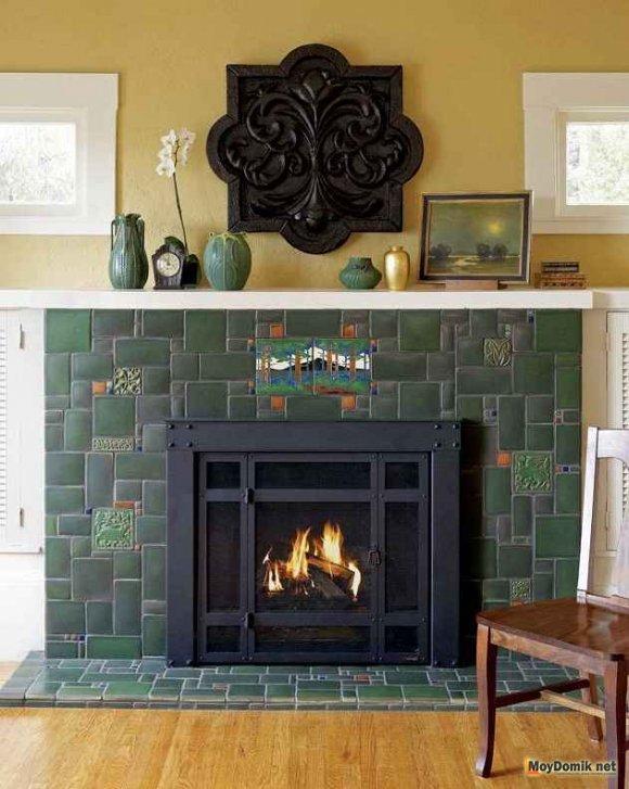 Огнеупорная плитка для камина