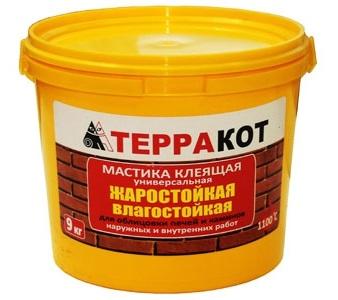 Термо мастика терракот цена шпатлевки стен потолков в москве