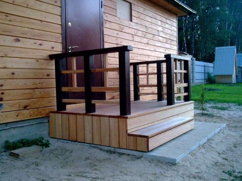Крыльцо деревянного дома своими руками фото 435