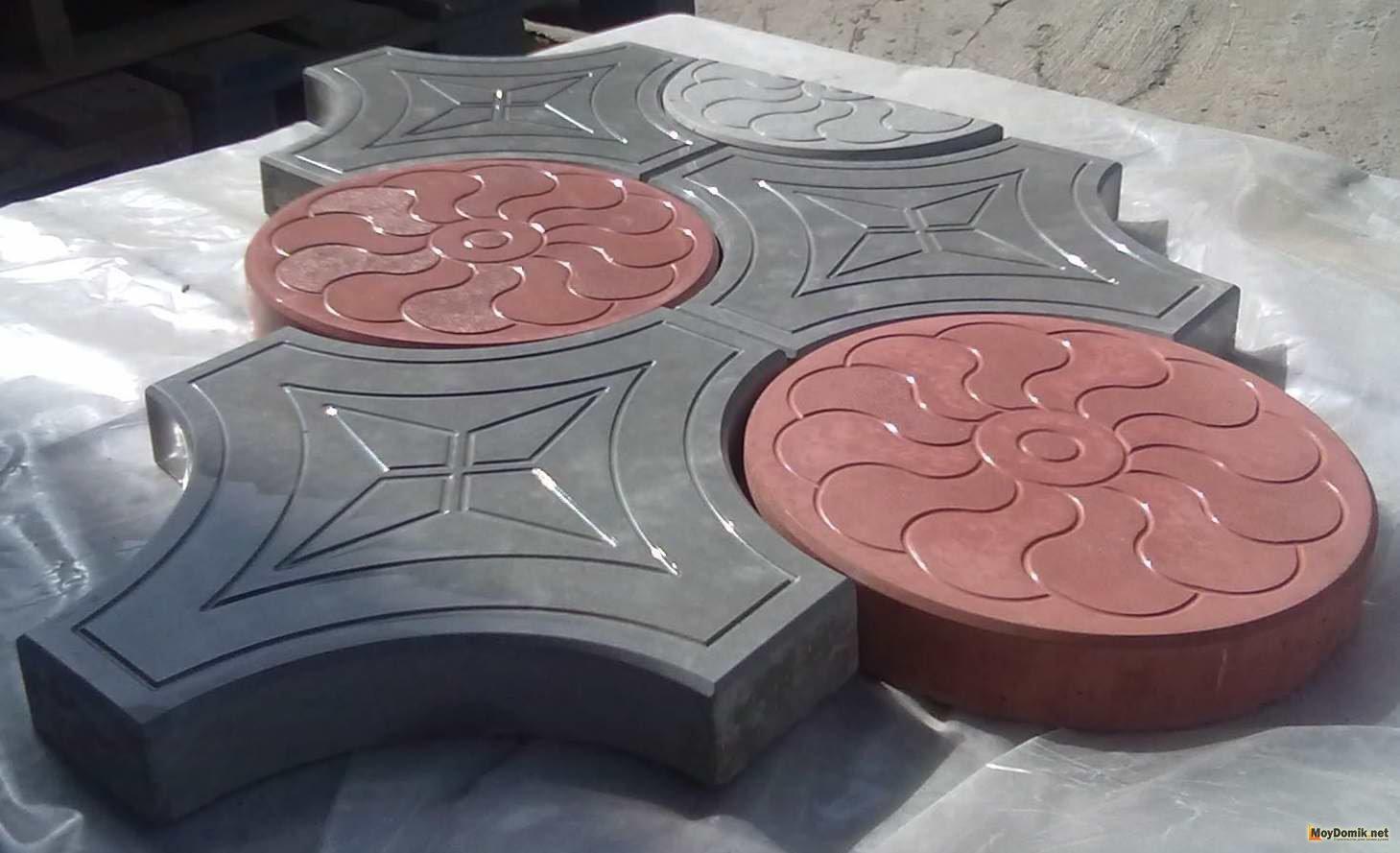 Цветная тротуарная плитка своими 1