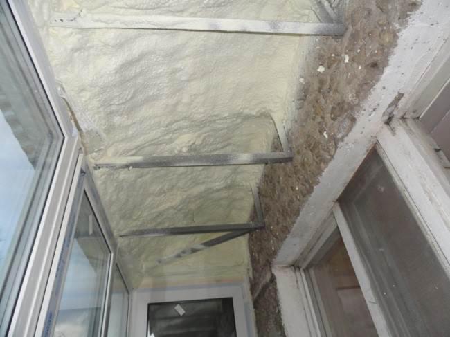 Утепление балкона пеной своими руками