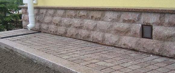 Отмостка из тротуарной плитки и брусчатки