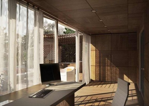 Дизайн веранды-кабинета