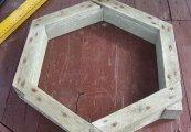 Изготовление формы из деревянного бруса для тротуарной плитки