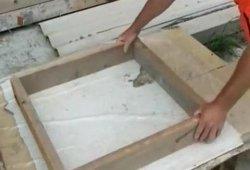 Самодельная деревянная форма для тротуарной плитки