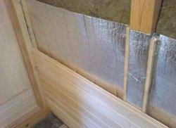 Утепление стен бани изнутри под вагонкой